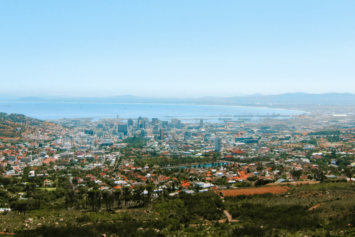 Hiking up Table Mountain - Cape Town