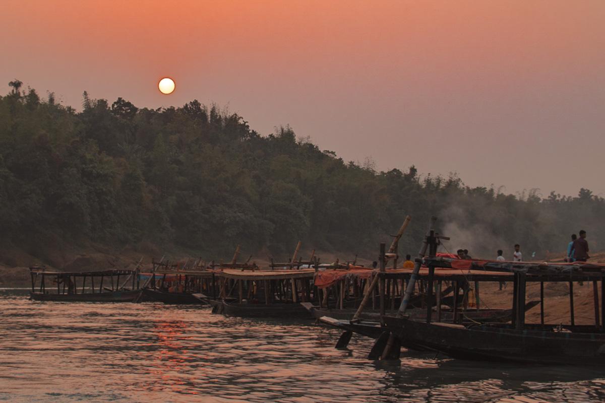 Lalakhal River sunset - Bangladesh