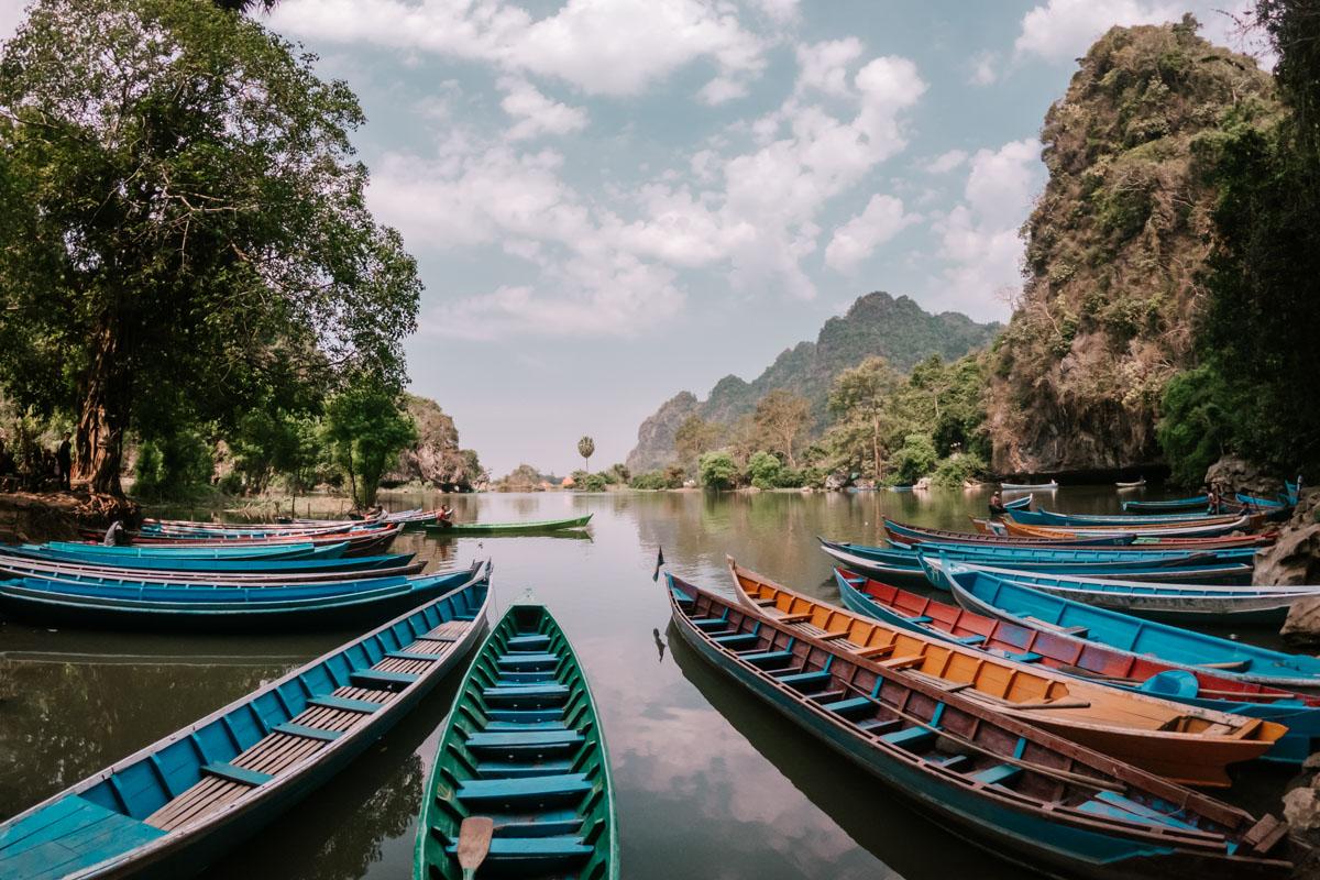 Secret lake at Saddan Cave Hpa An, Myanmar
