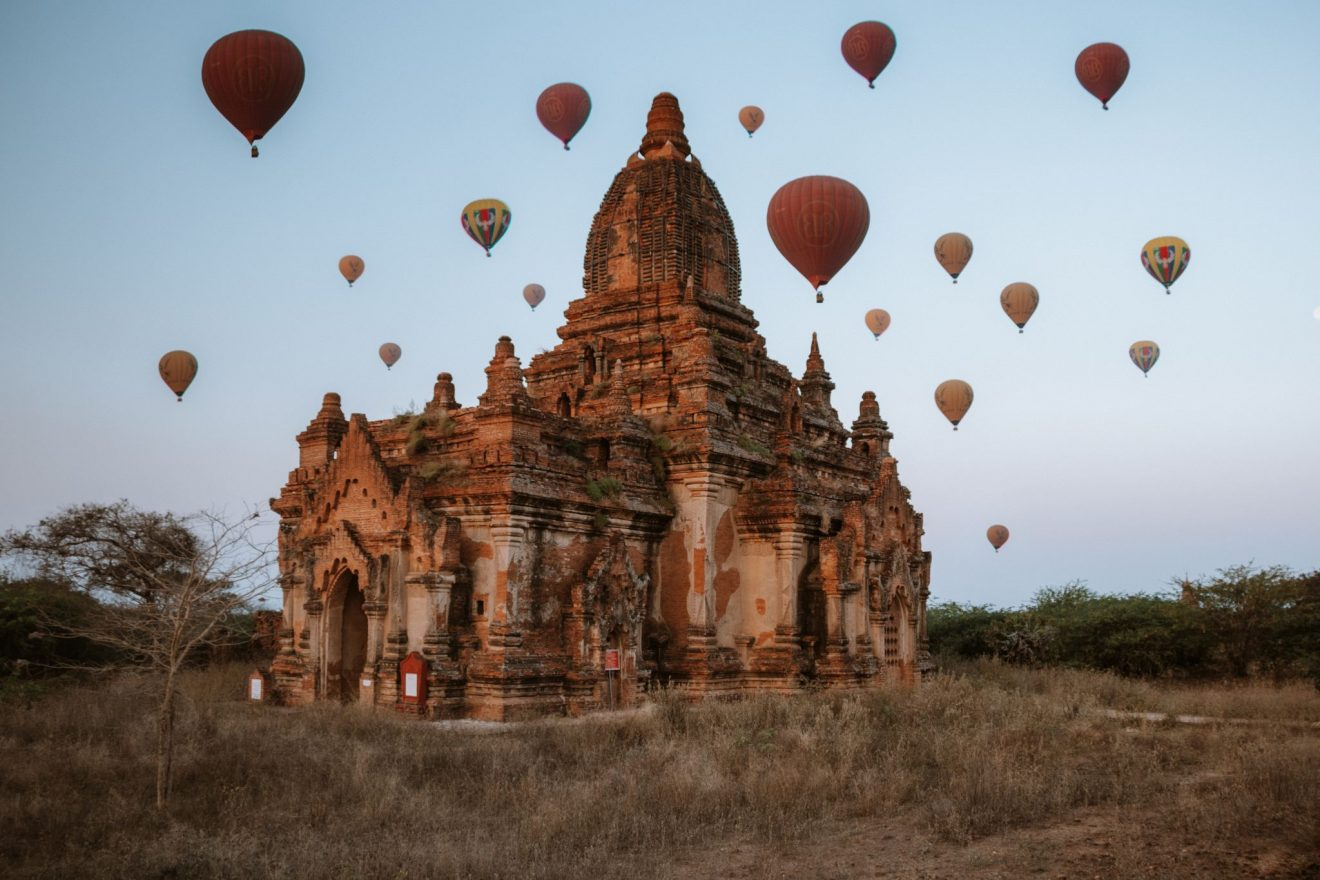 Ta Wet Hpaya temple Bagan at sunrise