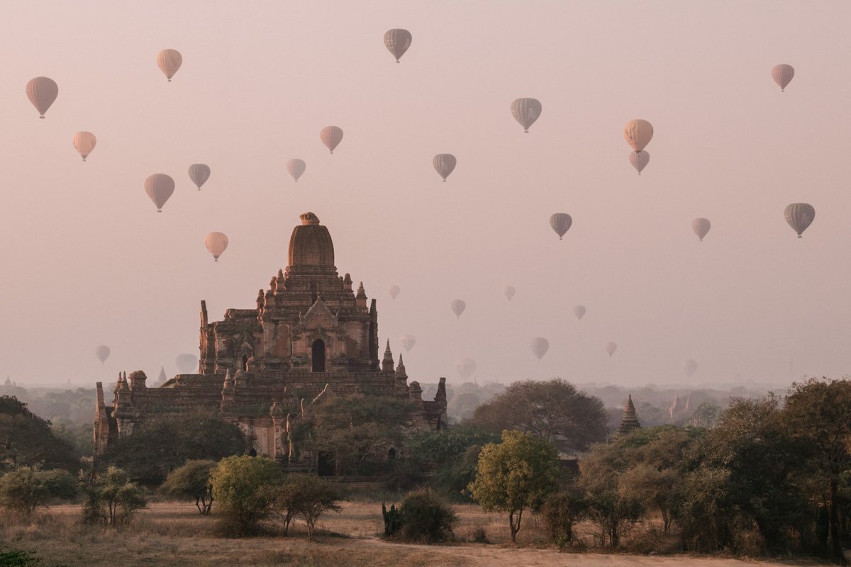 Bagan at sunsrise