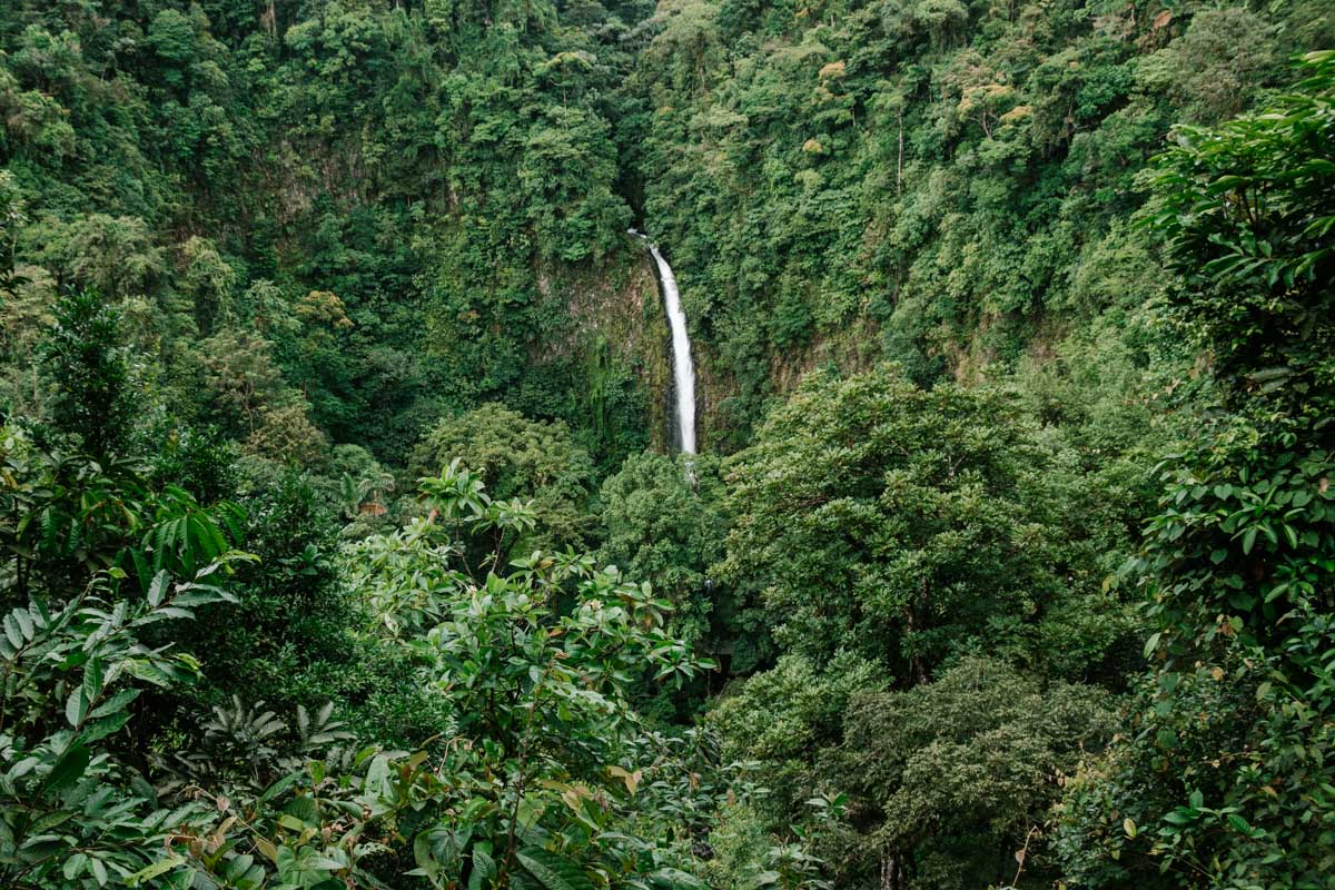 La Fortuna Waterfall view from above