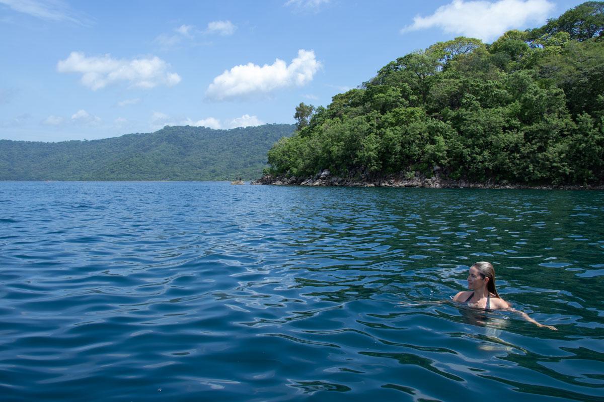 Swimming in Laguna de Apoyo