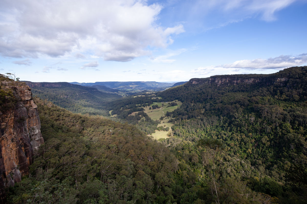 Hindmarsh Lookout - Belmore Falls, Waterfalls of Morton National Park
