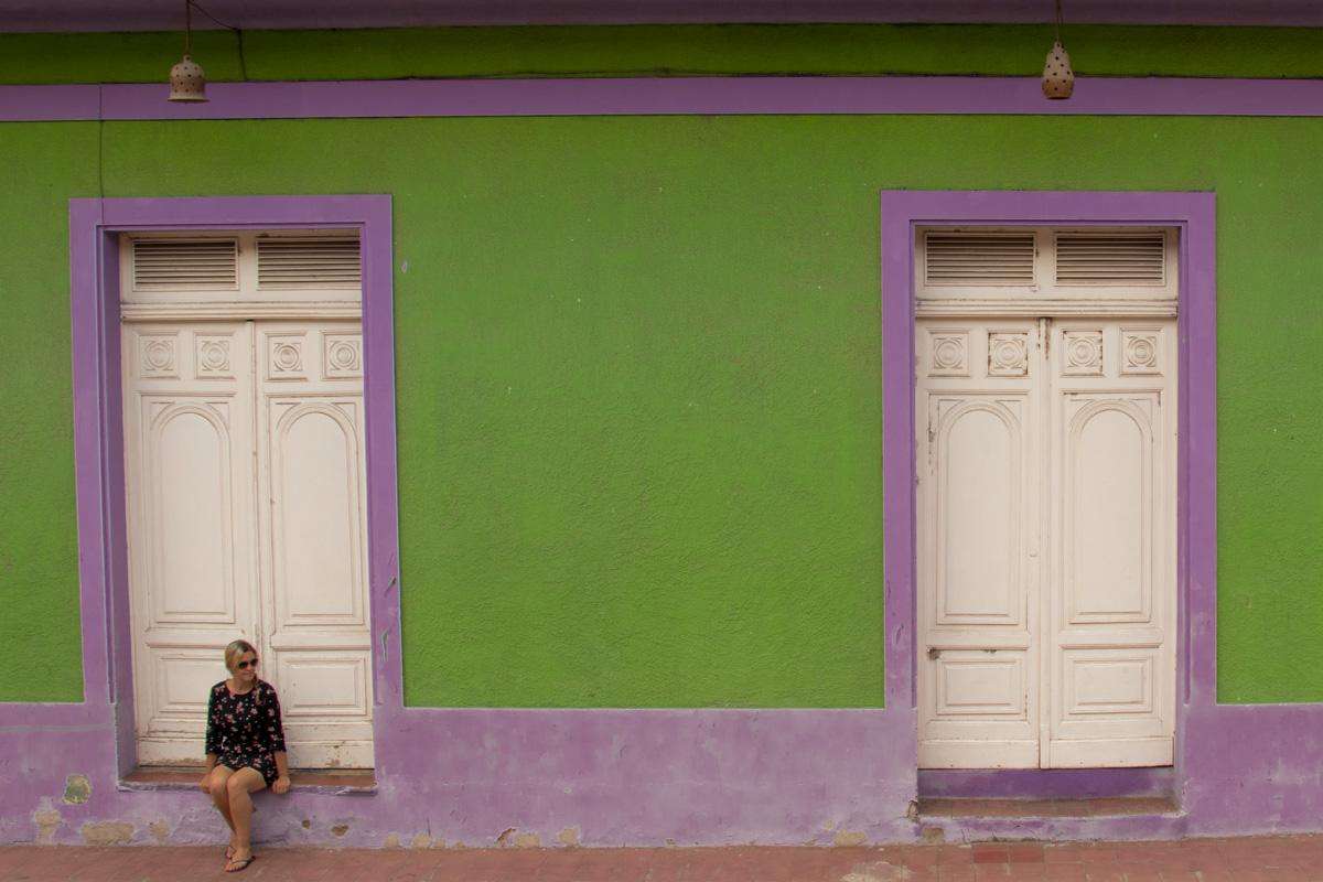 Colourful streets in Granada Nicaragua