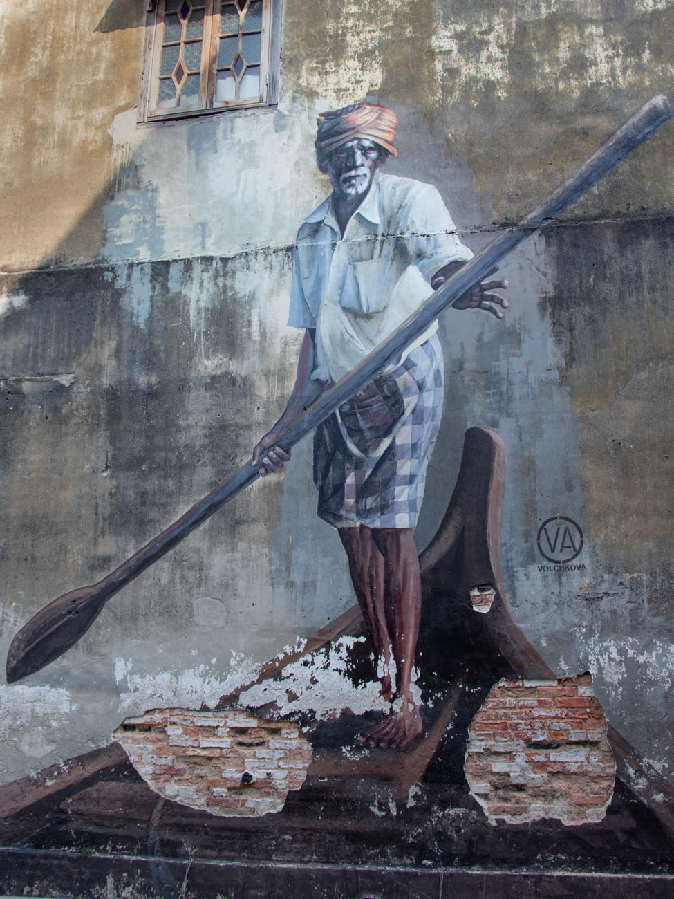 'The Indian Boatmen' - Penang Art Trail - Things to see and do in Penang
