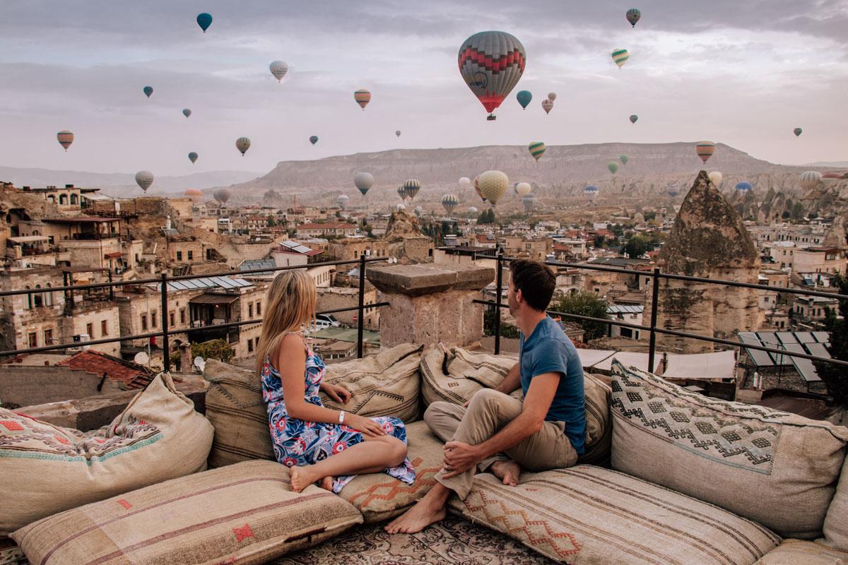 Cappadocia's hot air balloons - Sultan Cave Suites