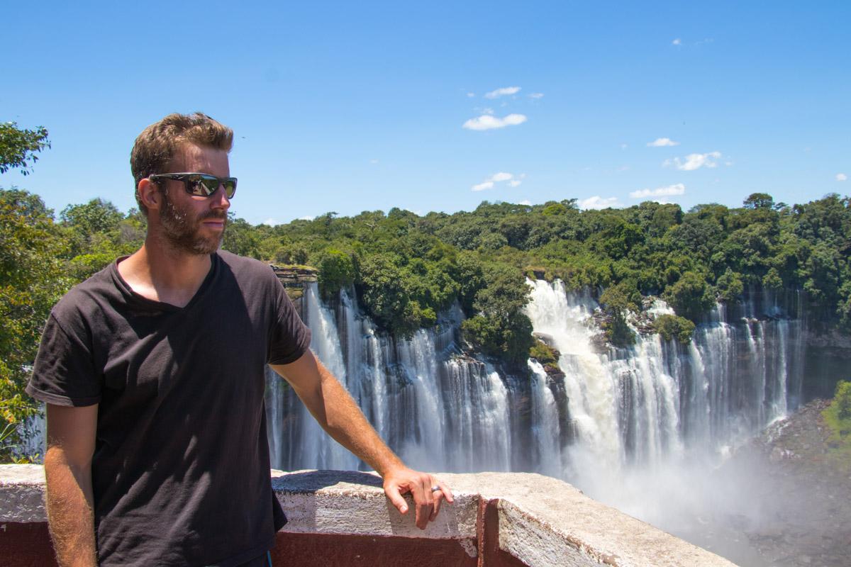 Kalandula Falls viewpoint - Overlanding Angola