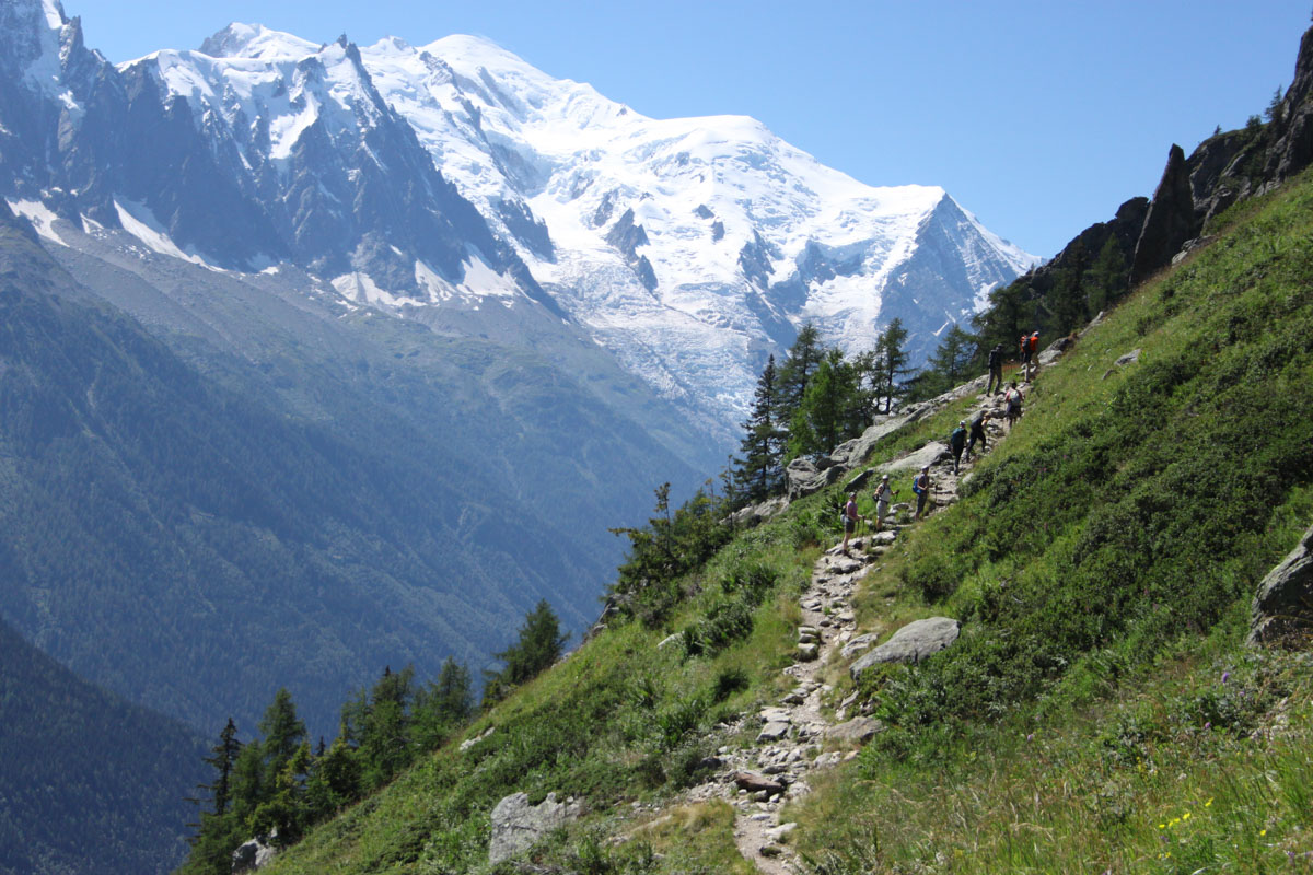 Hiking up to Aiguillette d'Argentière on the Tré le Champ to La Flégère Hike