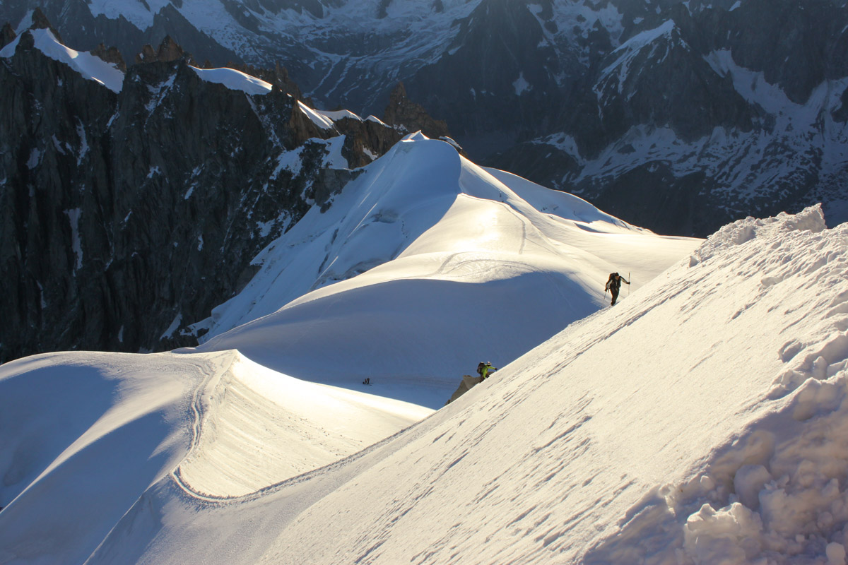 Aiguille du Midi morning light