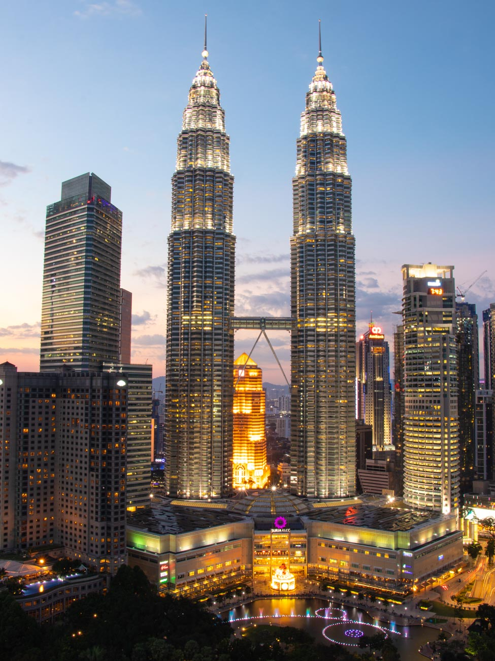 Views of the Petronas Twin Towers from SkyBar Traders - things to do in Kuala Lumpur