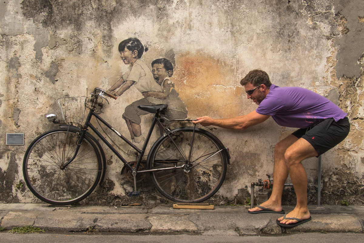 'The Children on the Bicycle' - Armenian Street - Things to see and do in Penang