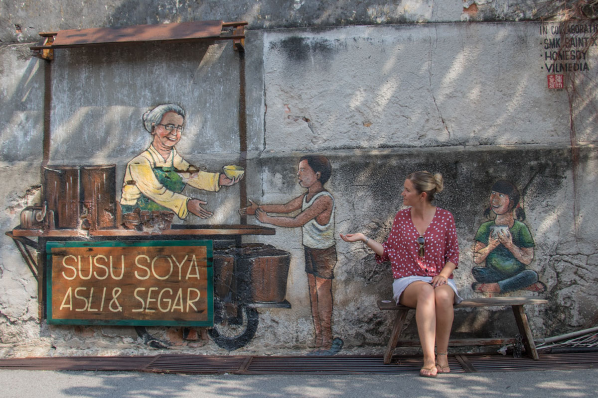 'Old Soy Milk Stall' - Penang Art Trail - Things to see and do in Penang