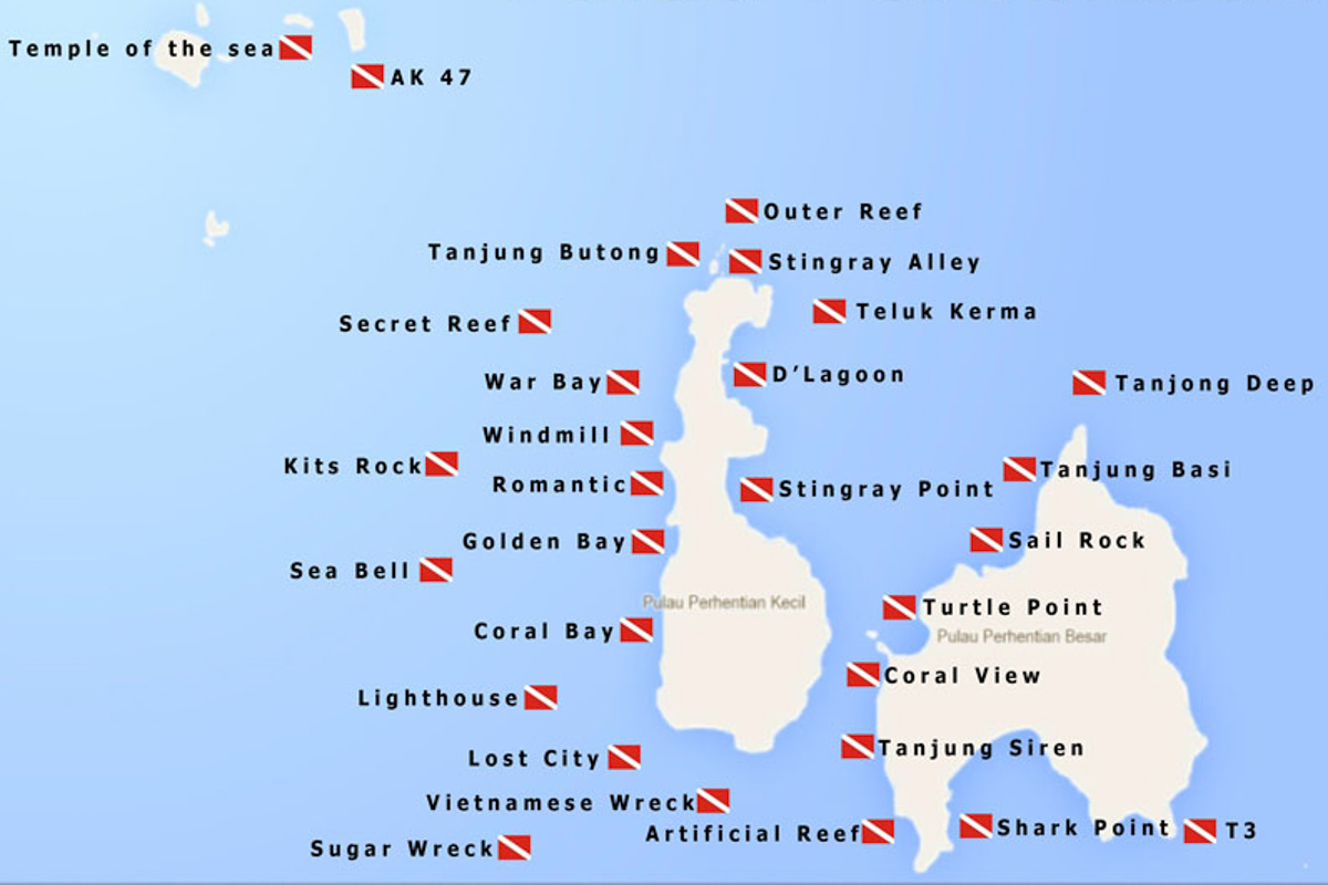 Perhentian Islands - Quiver Dive Team Site Map