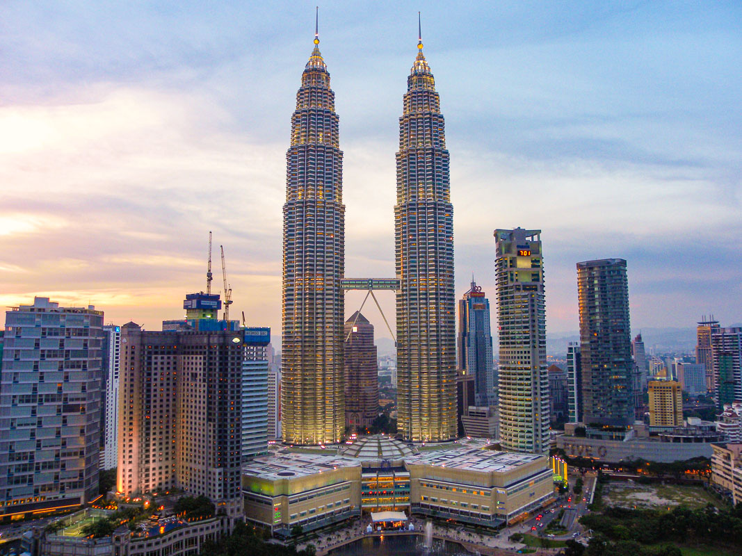 Sunset from Traders - 7 Places you must see in Malaysia
