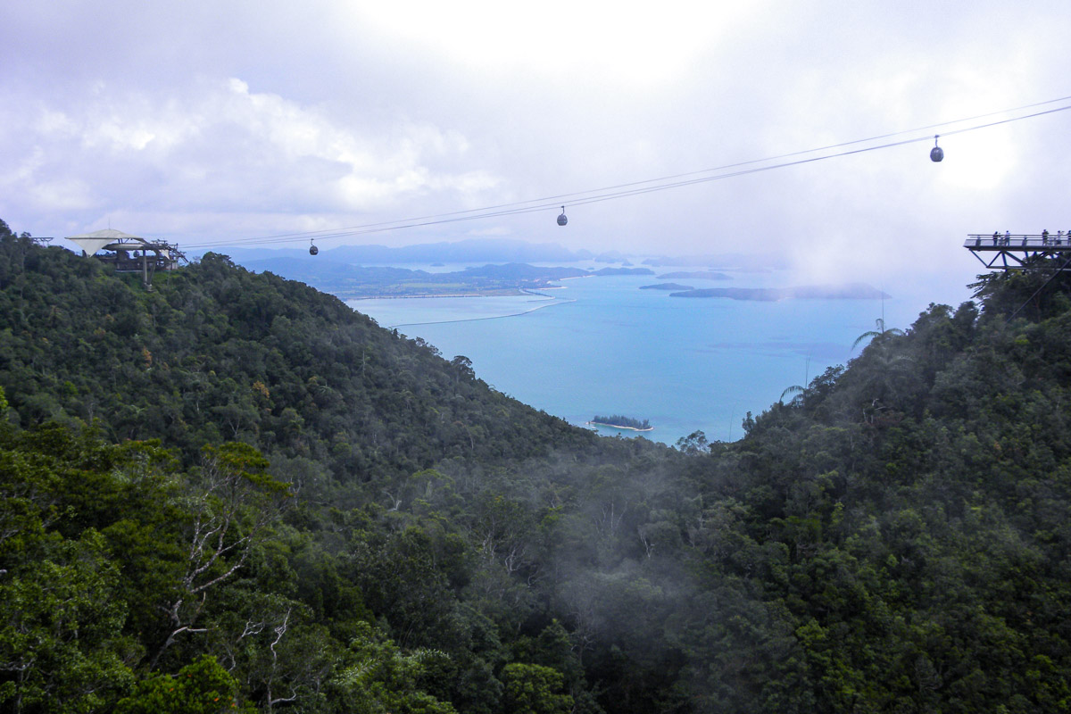 Sunset on Langkawi Cable Car - Places you must see in Malaysia