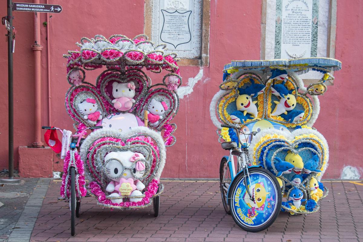 Pimped-up Trishaws in Melaka