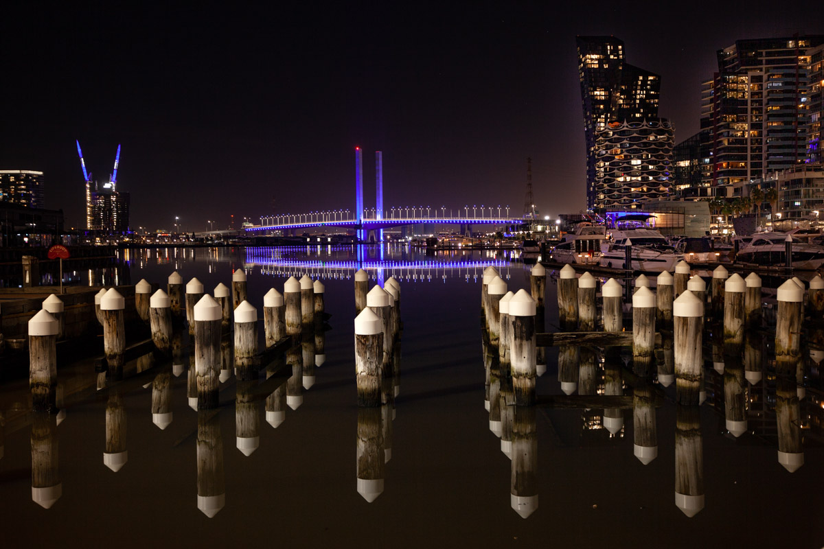 Central Pier in Docklands - Night Photography