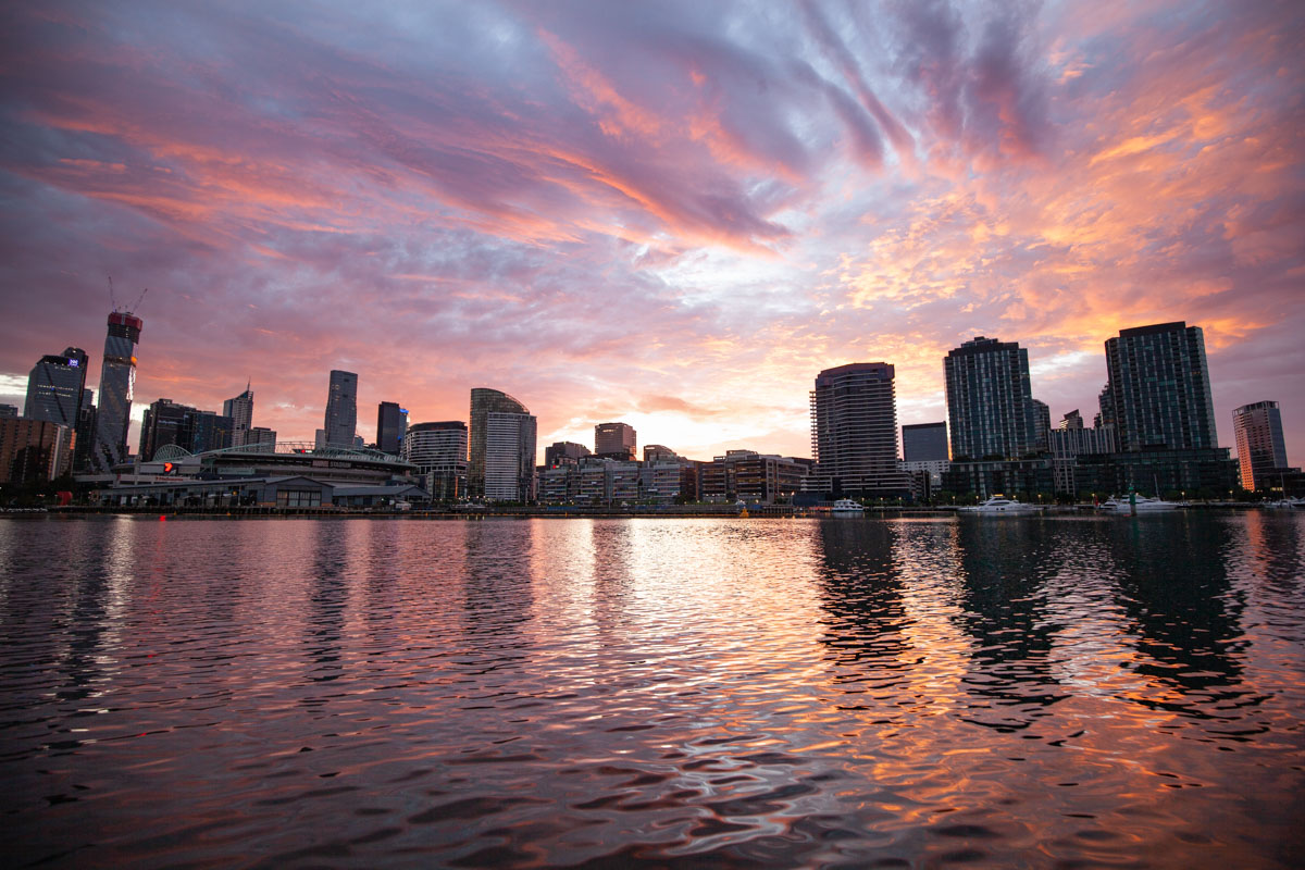 Best sunrise photography spots in Melbourne - From Melbourne City Marina
