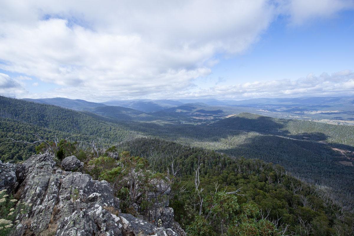 Reaching Sugarloaf Peak via Wells Cave Track