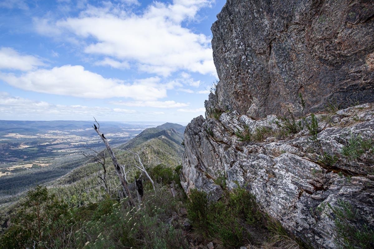 Hiking down from Sugarloaf Peak