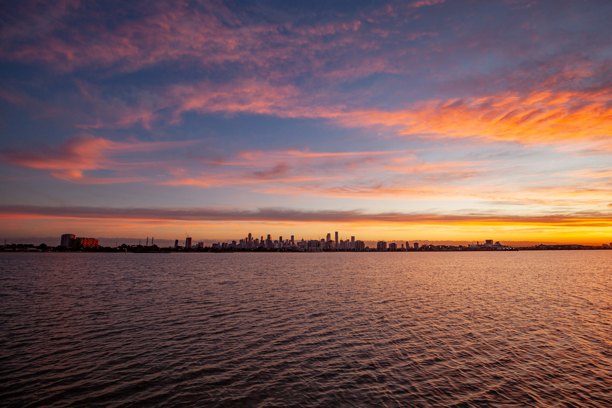 Best sunrise photography spots in Melbourne - From the Sandridge Lookout