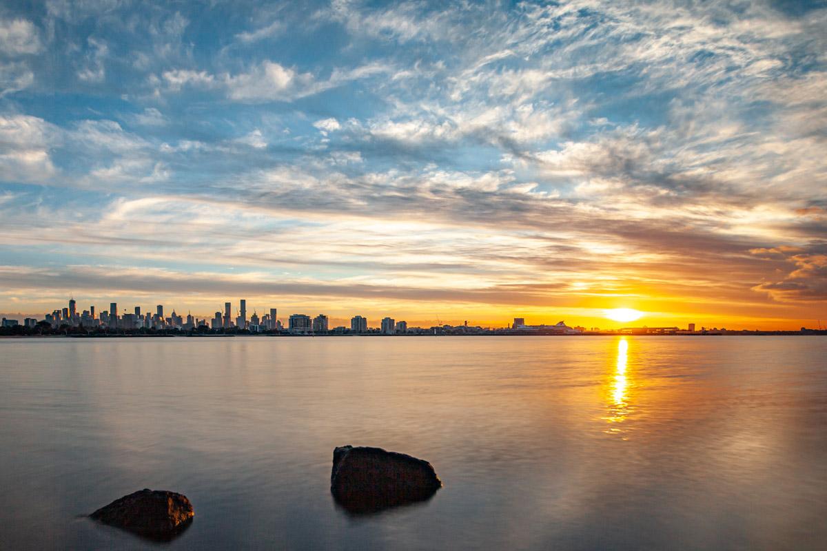 Sunrise from Sandridge Beach