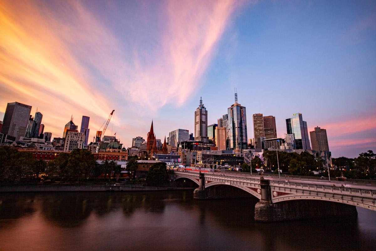 Melbourne CBD sunsets
