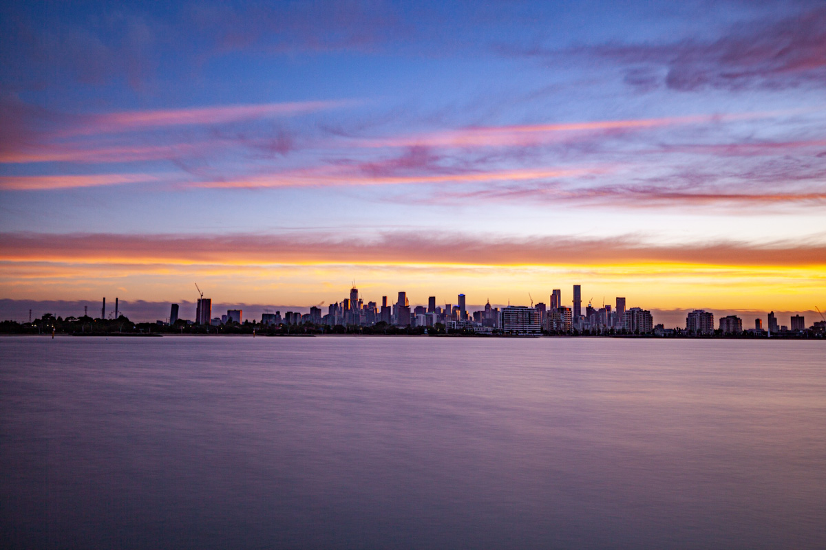 Sunrise from the Webb Trail - Port Melbourne