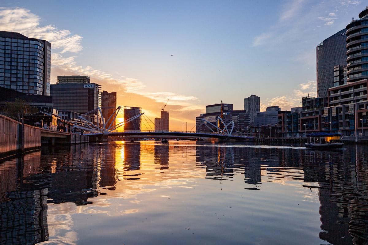 South Wharf Promenade - Exhibition Landing sunset