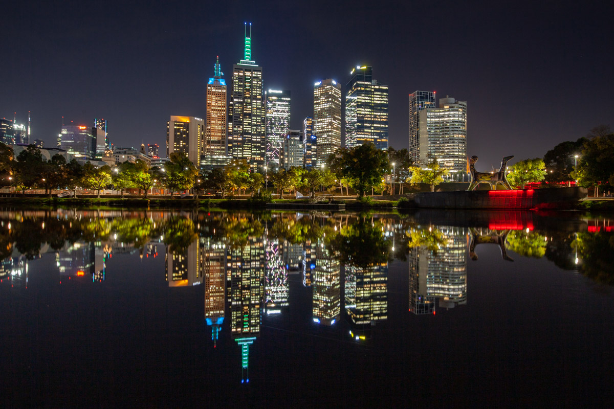 Yarra River - Best night photography spots in Melbourne