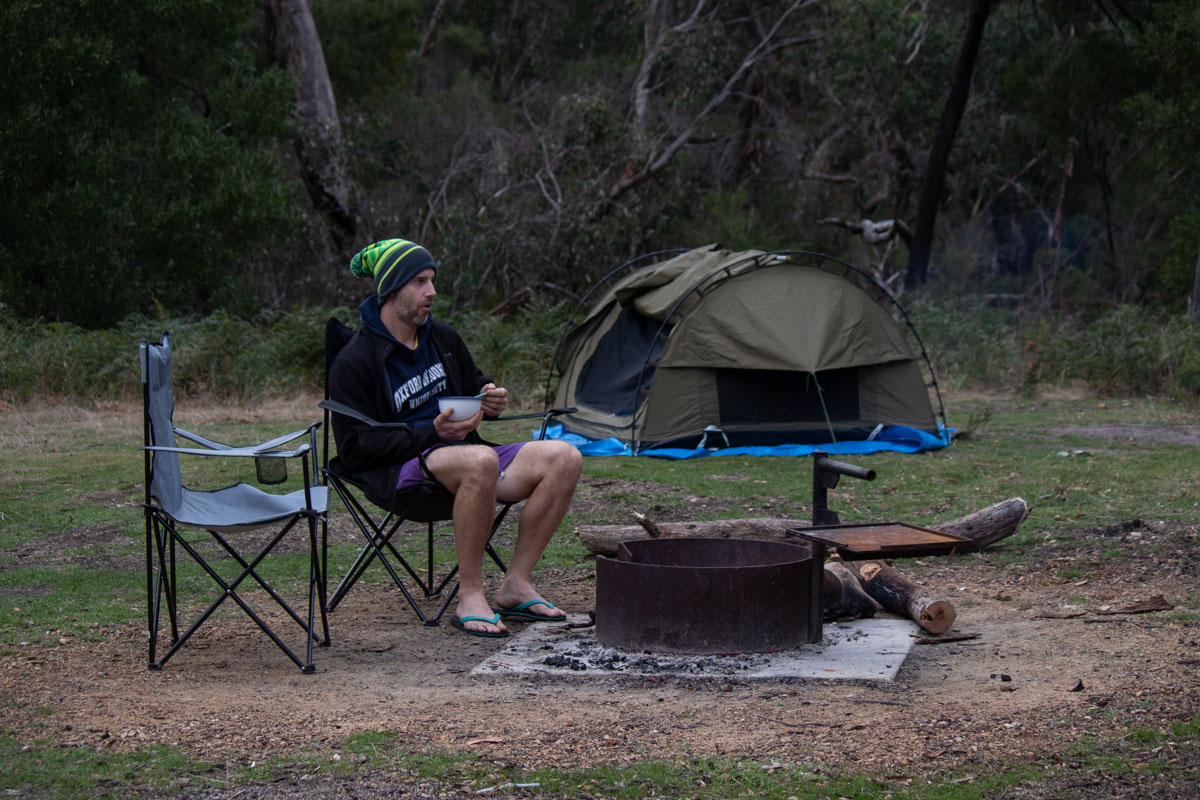 Breakfast at Wannon Crossing Campground