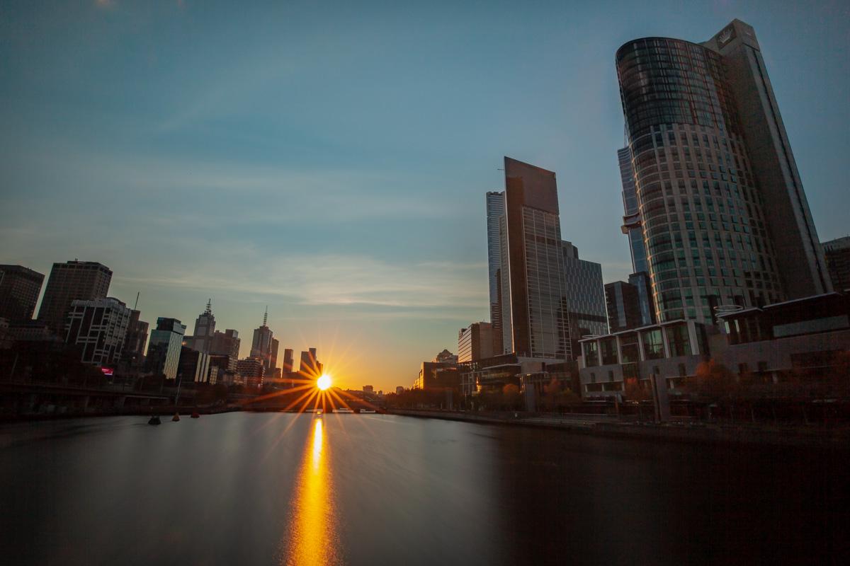 Best sunrise photography spots in Melbourne - From King Street Bridge