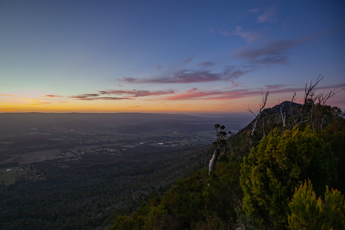 Sunset in the Cathedral Range