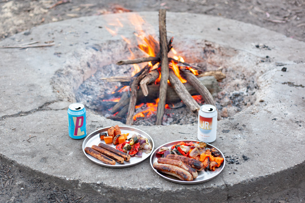 Camping in the Cathedral Range - BBQ dinner
