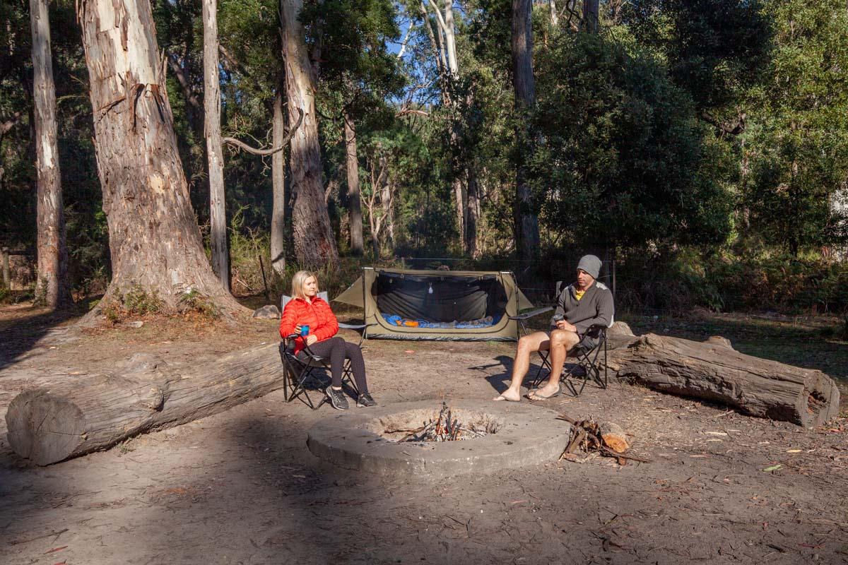 Camping in the Cathedral Range - Cooks Mill Campground