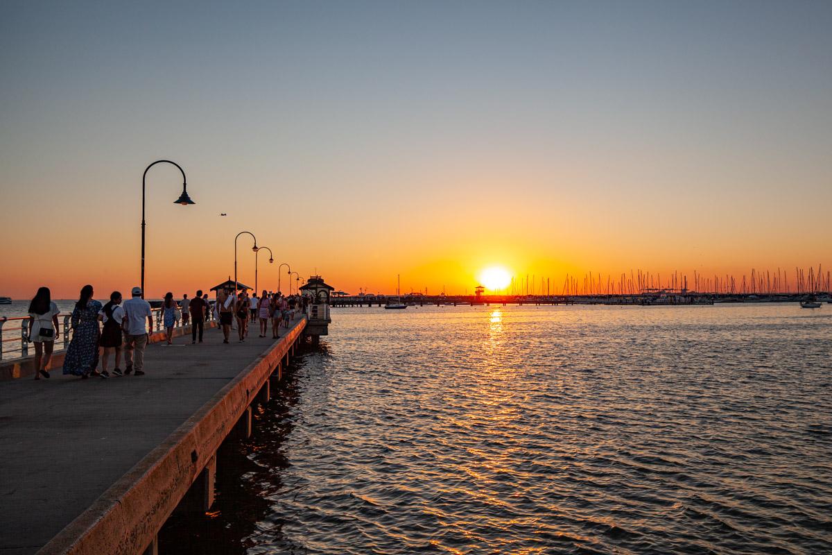 Sunset at St Kilda Pier