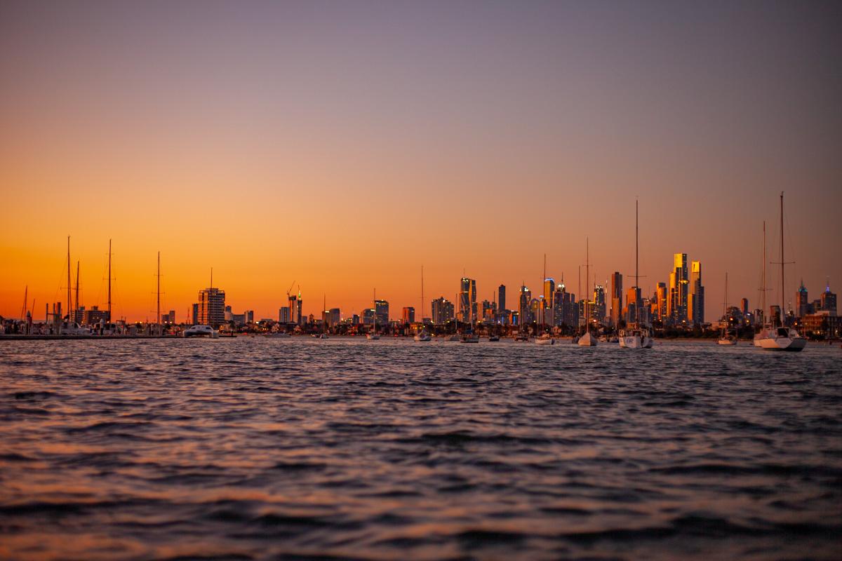 Twilight at the Royal Melbourne Yacht Squadron Marina - St Kilda