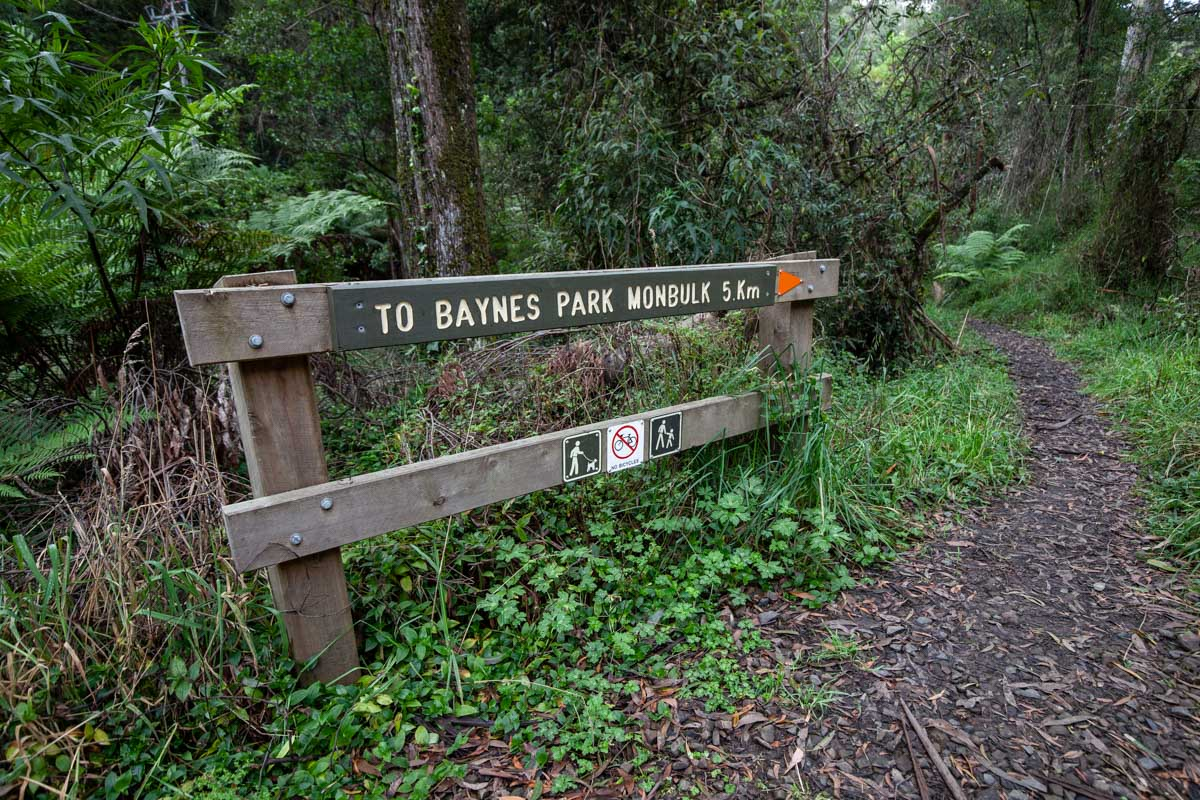 Dandenong Ranges Tourist Track - Signage