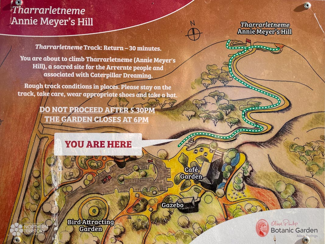 Tharrarletneme (Annie Meyers Hill) Track Map