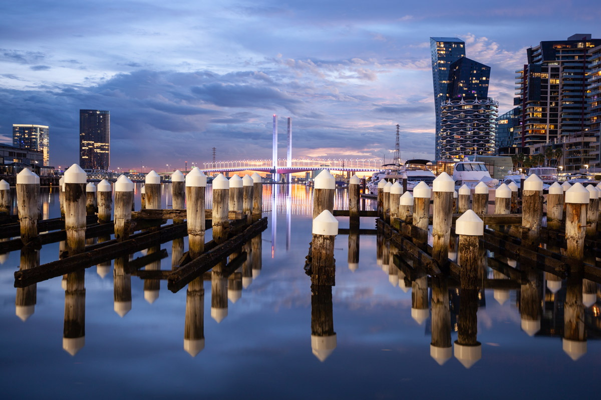 Central Pier in Docklands - Best sunset photography sunset spots in Melbourne -