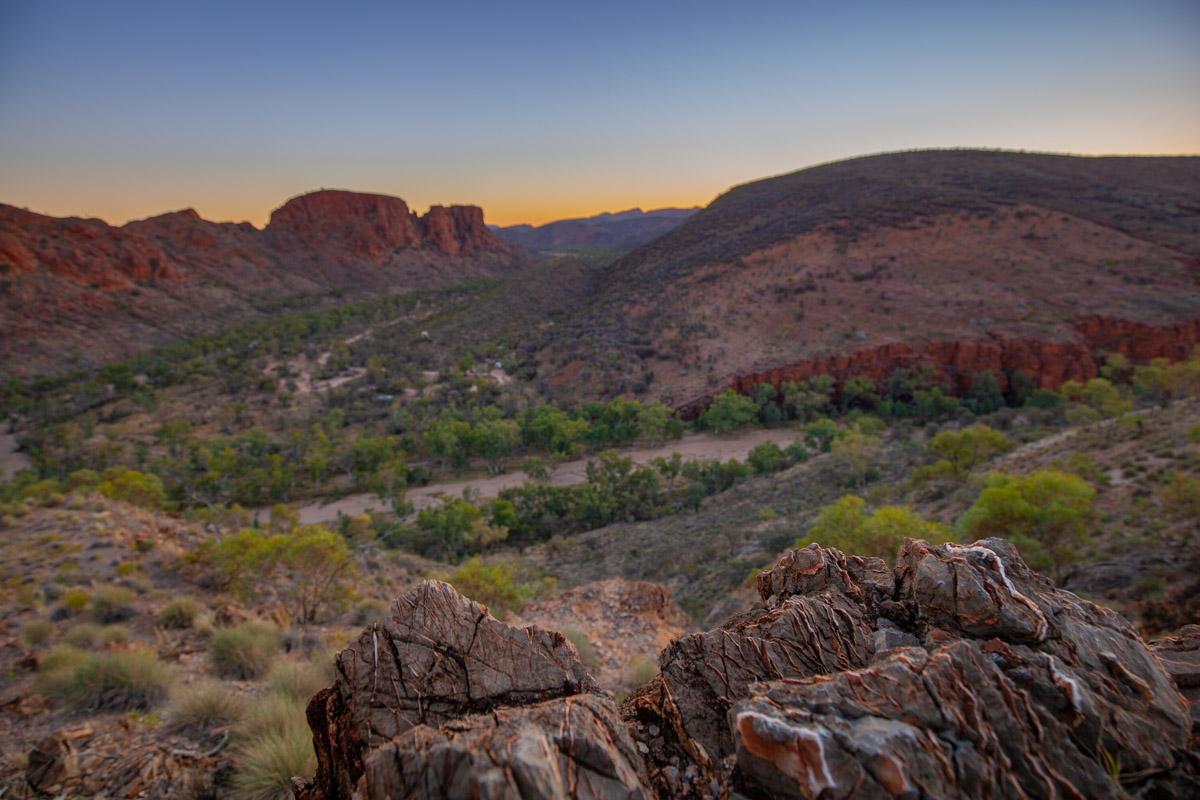 Panorama Walk at sunset - Trephina Gorge